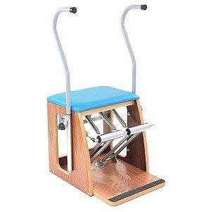 Cadeira Combo Regulável em Madeira e Aço Inox