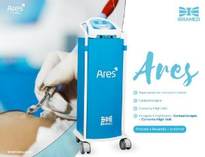 Ares Ibramed - Carboxiterapia com Gás Aquecido e Corrente HIgh Volt