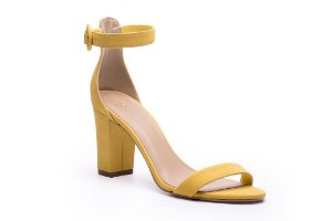 Sandalia Salto Bloco Single Stripe Ambar