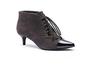 Bota Salto Baixo Socks Boots Nobuck Rocha