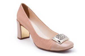 Scarpin Salto Bloco Rose Candy