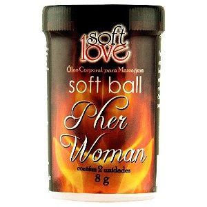 Bolinha Afrodisíaca Soft Ball 8g 02 Unid SOFT LOVE