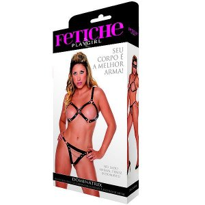 Conjunto Dominatrix - Madona Queen e Calcinha Dominatrix PLAYGIRL