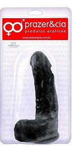 Prótese Maciça 18,2 x 4,3cm  - COR PRETA  - PRAZER E CIA