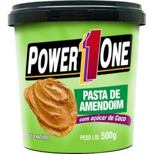 Pasta de Amendoim Integral c/açucar de coco (Power One) - 500G