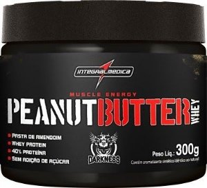 Peanut Butter Whey - Pasta de Amendoim Protéico 300g - Darkness Integralmédica