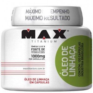 Óleo de Linhaça 100 cápsulas - Max Titanium