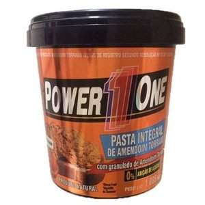 Pasta de amendoim com granulado de Amendoim (1kg) – Power One