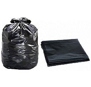 Saco Lixo Preto 200L Reforçado 85x97 (0,06) Sacofort c/10