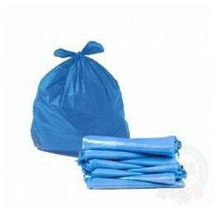 Saco Lixo Azul 47x55cm Rava 40 Litros c/100