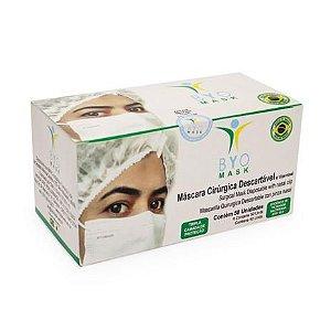 Máscara Cirúrgica Descartável Byo Mask c/50