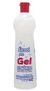 Álcool Gel Etílico Hidratado 65º INPM, 500gr, Econômico