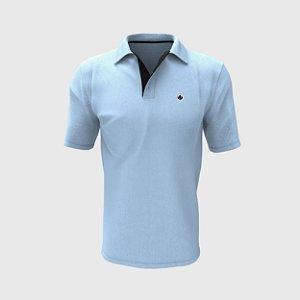 Camisa Polo Azul Claro