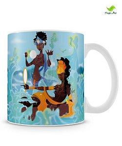 Caneca personalizada - Oxum e Iemanjá, rainha das águas