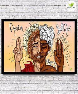 Pôster A3 - Pôster Oxalá e Jesus (Amém e Axé)