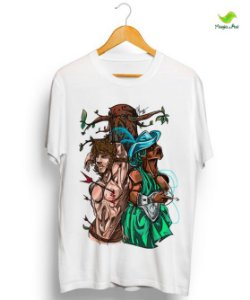 Camiseta - Sincretismo Oxóssi e S. Sebastião