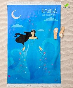 Canga de praia - Yemanjá minimalista