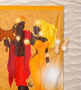 Canga de praia - Oxum e Xangô, realeza divina