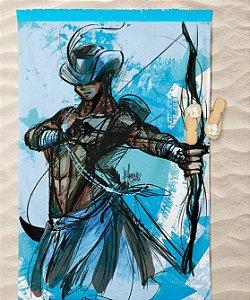 Canga de praia - Oxóssi, o arqueiro do Órun