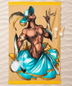 Canga de praia - Logun edé, príncipe divino
