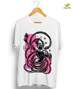 Camiseta em algodão - Ewá, coleção Orixás raiz vintage