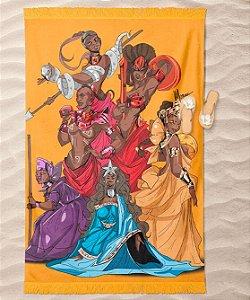 Canga de praia - Mães e rainhas negras