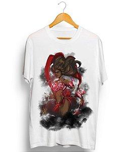 Camiseta em algodão - Oyá Iansã, rainha das tormentas