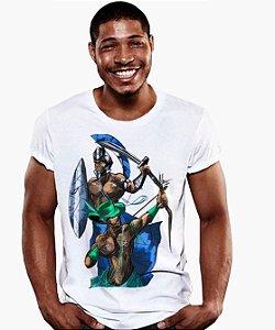 Camiseta - Orixás Ogum e Oxóssi, irmãos de caça
