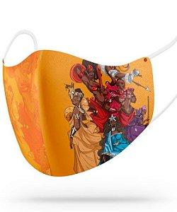 Máscara de proteção em pano -  Yabás, rainhas negras