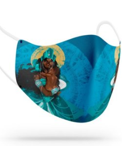Máscara de proteção em pano -  Yemanjá, mãe da criação