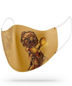 Máscara de proteção em pano -  Oxum Gloriosa