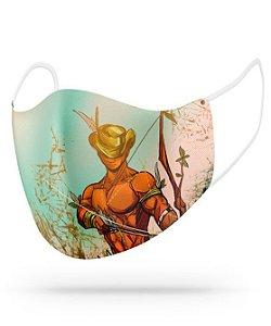 Máscara de proteção em pano -  Oxóssi caçador