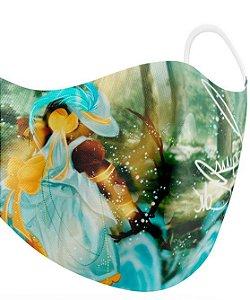 Máscara de proteção em pano -  Logun Edé, caçador das águas