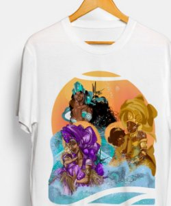 Camiseta- Yemanjá, Oxum e Nanã, as mães da vida.