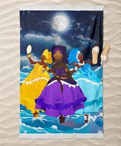 Canga de praia - Yemanjá, Oxum e Nanã, as deusas da lua