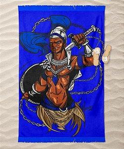 Canga de praia - Ogum, guerreiro azul