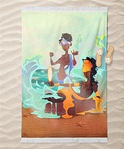 Canga de praia - Yemanjá e Oxum, mãe e filha