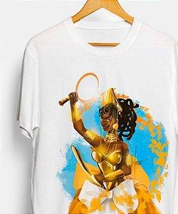 Camiseta - Oxum Opará, guerreira dourada