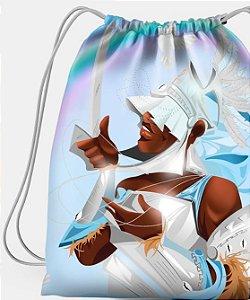 Sacola com cordões - Oxaguiã, o guerreiro branco