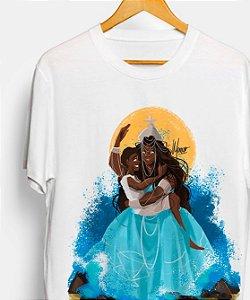 Camiseta de algodão - Yemanjá, mãe soberana