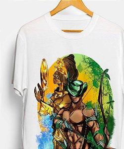 Camiseta - Oxum e Oxóssi, o encanto das matas
