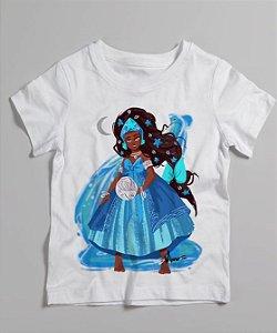 Camiseta infantil - Yemanjá menina, a rainha do mar