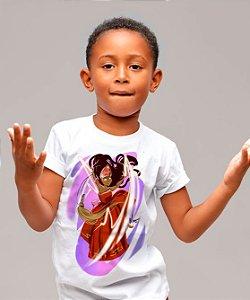 Camiseta infantil - Iansã menina, rainha da ventania