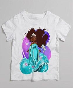 Camiseta infantil - Yemanjá, menina do mar