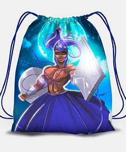 Sacola com cordões - Ogum, guerreiro do luar