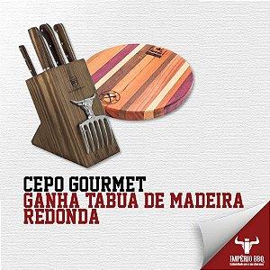 CEPO GOURMET - GANHE TABUA DE MADEIRA REDONDA
