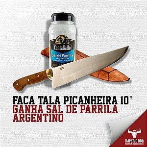 """FACA TALA PICANHEIRA 10"""" - GANHE SAL DE PARRILA – ARGENTINO"""