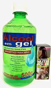 KIT ÁLCOOL EM GEL + BASE FORTALECEDORA