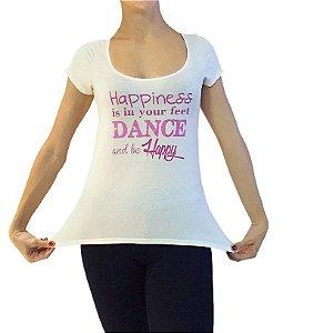 Camiseta Happiness - Tamanho M