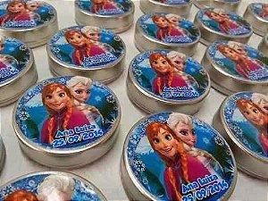 Rotulos Frozen para Latinha 5x5 - 50 Unidades